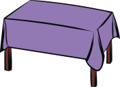 Table with tablecloth icon cartoon