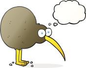 thought bubble cartoon kiwi