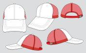 Mesh Baseball Cap Design Vector