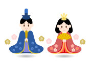 Illustration of Hinamatsuri(the Doll's Festival of Japan)