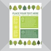 Template banner with trees.