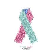Vector modern thyroid CANCER awareness circles desigen.