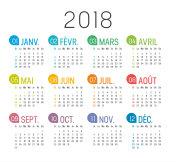 Year 2018 French calendar