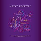 Music Festival banner design