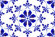 blue and white decorative pattern