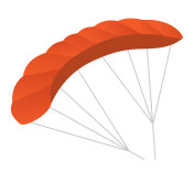 Paraglider vector cartoon illustration