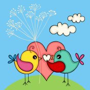 Cute love bird couple for Valentines Day