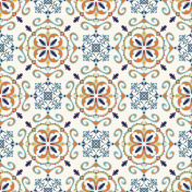 Vector seamless texture. Pattern with decorative elements