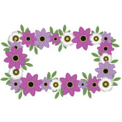 Pink and White Floral Wreath Illustration