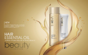 Golden hair oil ads