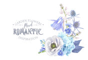 Blue flower composition