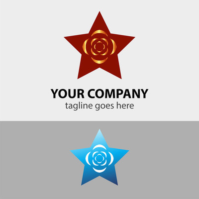 星和花 Logo 标志