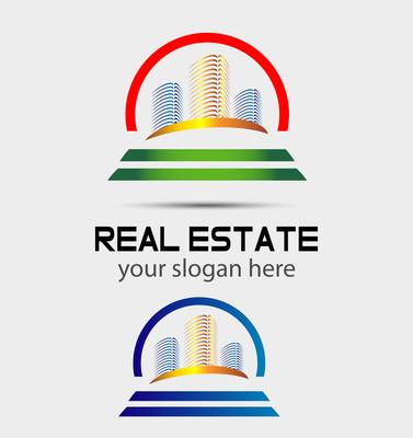 摩天大楼的房子徽标