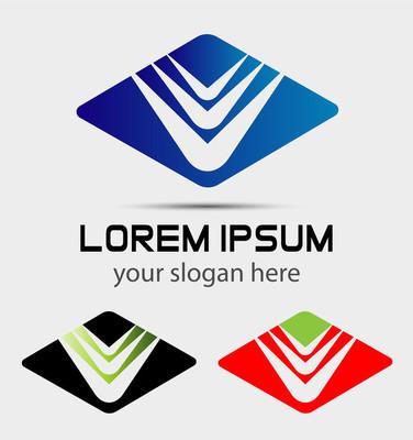 企业菱形抽象矢量 logo 设计模板。商业标志