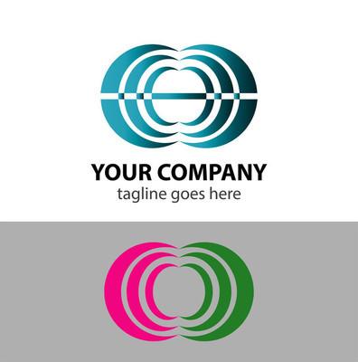 抽象通信 logo 标志