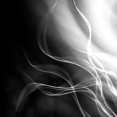 单色火焰抽象插图