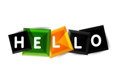 Hello word button banner