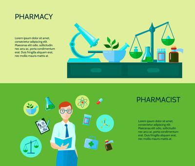 Two Pharmacist Banner Set