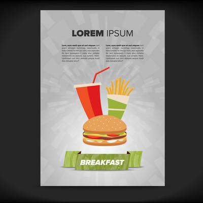 快餐食品宣传单张设计
