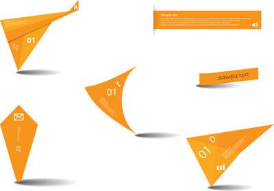 各种图形元素与橙色颜色集