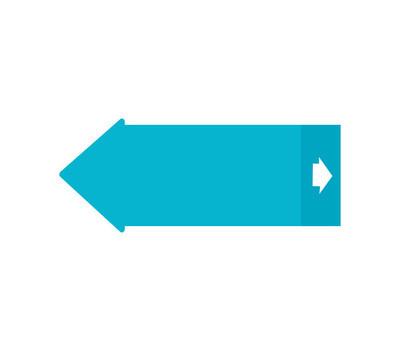 蓝色箭头符号图标矢量图