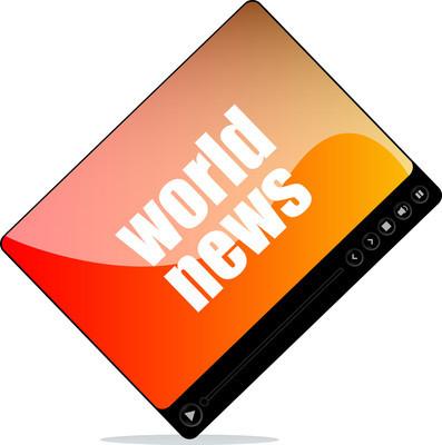 视频播放器 web 与世界新闻的词