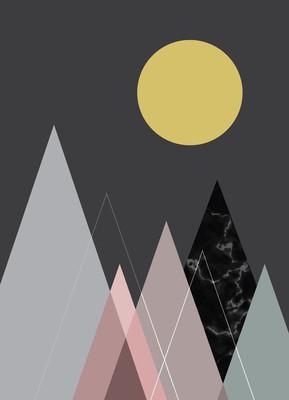 抽象的几何背景,海报设计