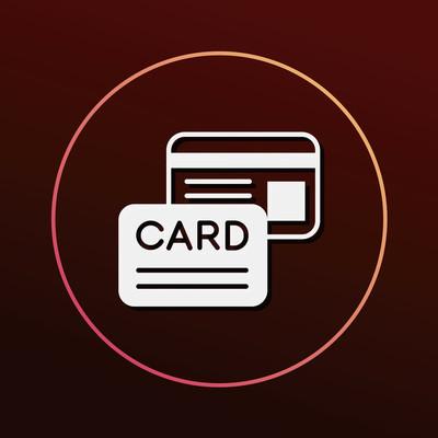 信用卡图标矢量图