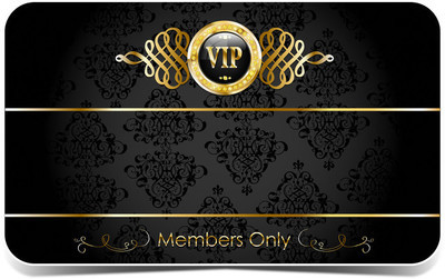 Gold vip card with pattern