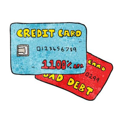 质感的卡通信用卡
