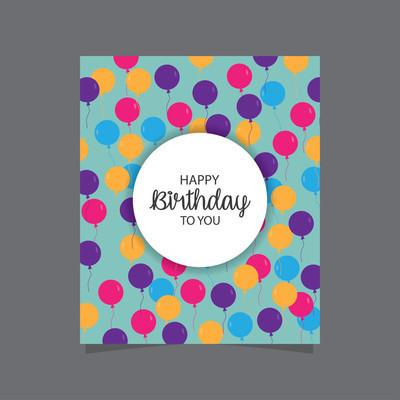 祝你生日快乐卡模板