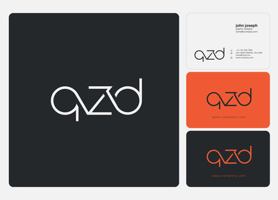Letters logo Qzd template for business banner