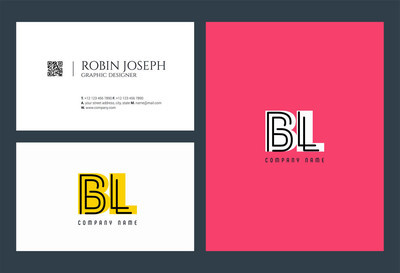Letters logo Bl template for business banner