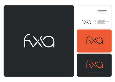 Letters logo Fxa template for business banner
