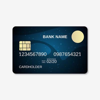 银行卡,信用卡设计模板