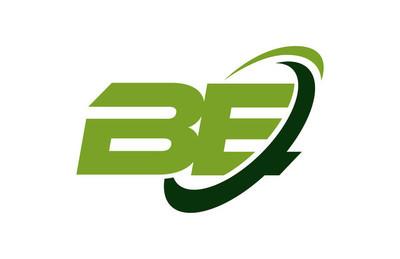 是标志旋风椭圆绿色字母矢量概念