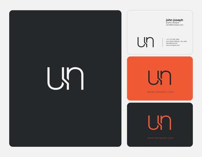 联合联合国信函徽标、名片模板、矢量