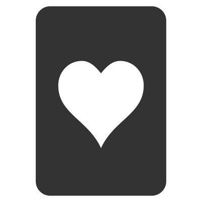 红心赌博卡平面图标