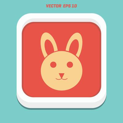 可爱的复活节兔子图标