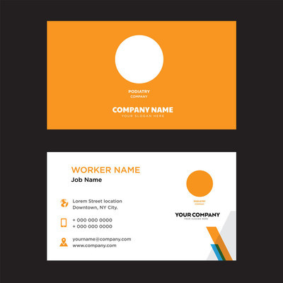 podiatry business card design