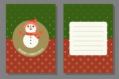圣诞主题, 贺卡和海报, 平面设计模板