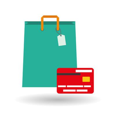 在白色的背景,购物袋设计在线购买