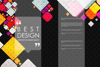 套的宣传册,海报设计模板