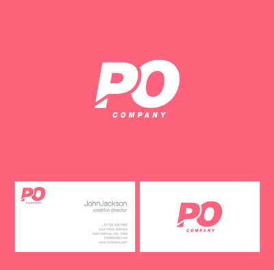 P 与 O 字母徽标