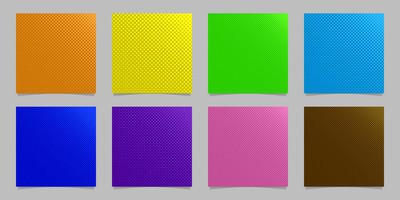 几何半色调点图案背景集-矢量文具图形设计集合从圈子