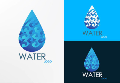 Logo wave and water design