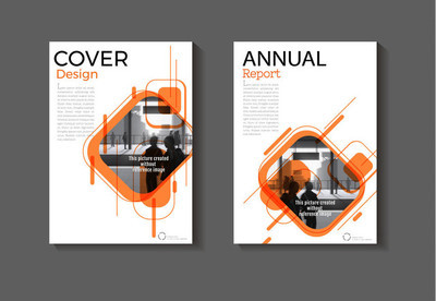 橙色布局抽象背景现代封面设计现代嘘