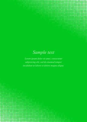 绿色页面角落设计模板