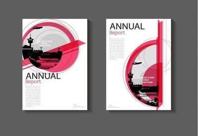 粉红色布局抽象和绿色背景现代封面设计 m