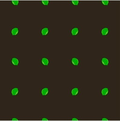 无缝背景平面设计绿色石灰在黑色股票矢量插图